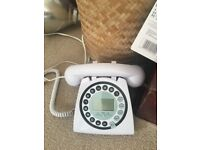Landline Telephone traditional shape with modern styling