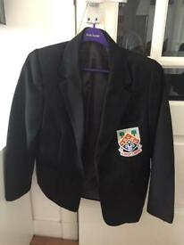 Girls black polyester blazer with Eastwood High Logo - size 27""