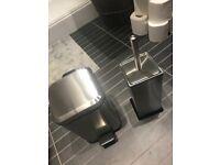 Brand new in box bathroom bin and toilet brush
