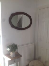 1940/1950's Oval Wall Mirror
