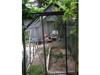 Greenhouse dismantled and ready to collect