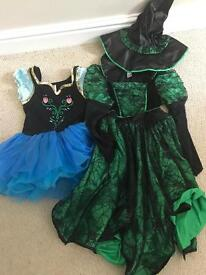 Fancy dress costumes witch and Disney frozen Anna age 7-8