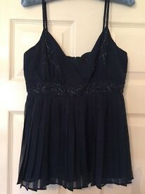 Ted Baker deep blue sea blous size S