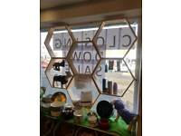 Hexagonal window display
