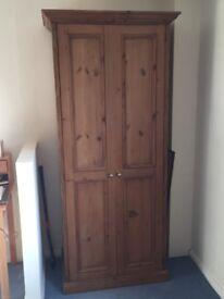 Pine wardrobe for sale £95 ono