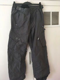 Sessions snow pants, grey, size med
