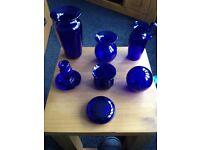 Bristol blue glass x7 pieces. Must go.