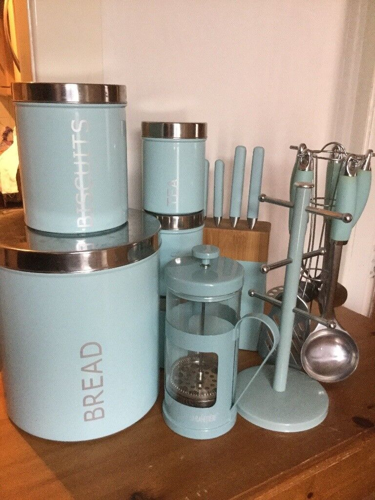 Duck Egg Blue Kitchen Canisters
