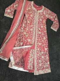 Pink India/Pakistan diamond dress