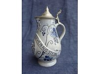 Decorative Vintage Stein Wine Jug