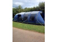3yeaold Outwell MP Tomcat air 5 berth tent with Awning and inside and awning carpet plus equipment
