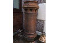 Reclaimed Victorian chimney pots garden planters