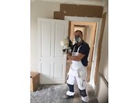 Painter and decorator, painting and decorating proffesional team of painters, wallpapering