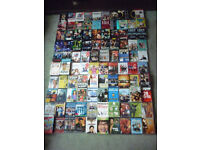100 plus mixed titled individual DVD's as pre owned
