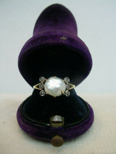 Antique Natural Saltwater Pearl Ring EGL Certified