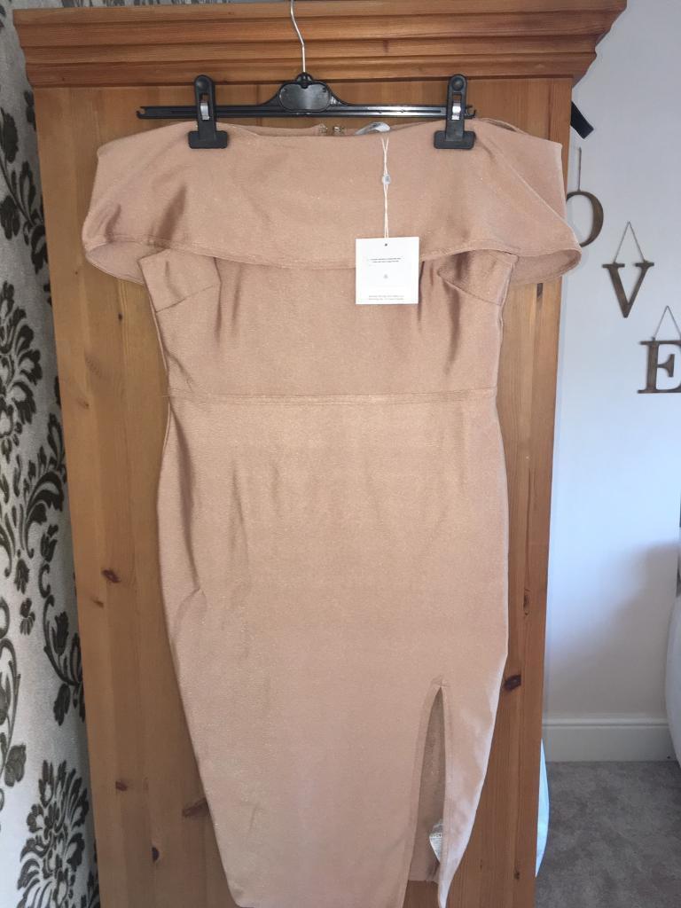 Brand new nude Bardot midi dress