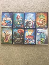 Disney dvds x 8 bundle