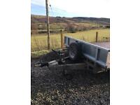 Ifor Williams LM146 flat bed trailer. SOLD.