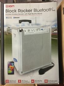 ION Block Rocker M5 50W Portable PA Speaker (White)