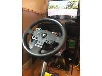 Xbox one steering wheel and pedals Thrustmaster tmx fully boxed can be seen working swap