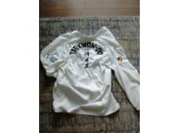 Taekwon do suit and sparring gear