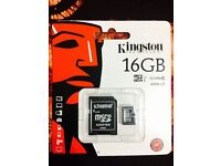 New-Unopened boxed Kingston 16gb Micro SdMimi for Sale only £5