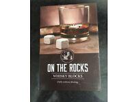 Whiskey on the blocks ice cubes