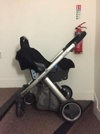 Babystyle oyster with seat unit and car seat