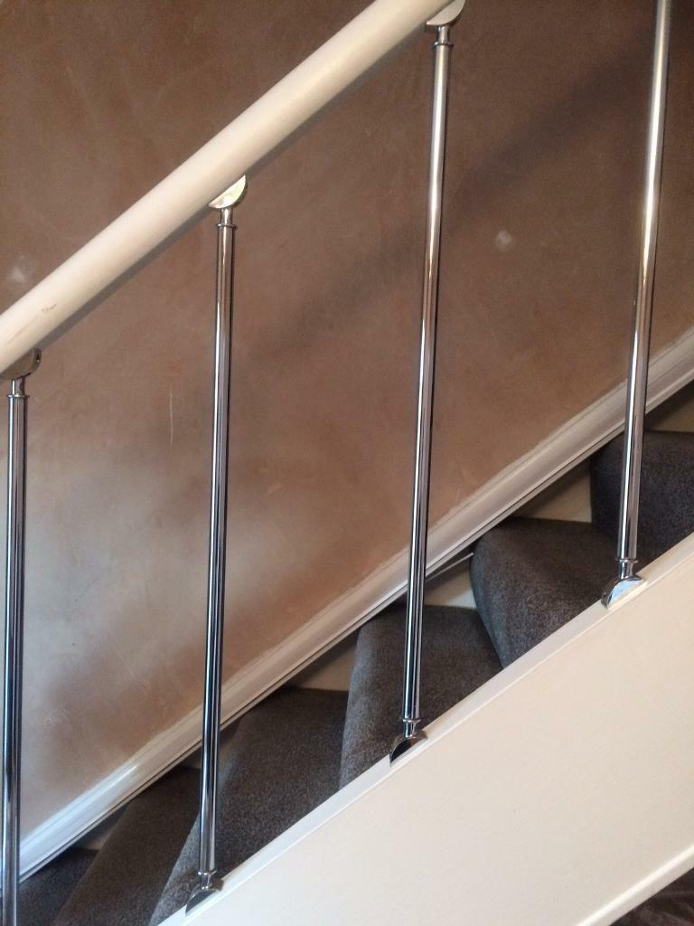 Crome stair spindles