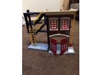 Imaginext fire station plus fire engine