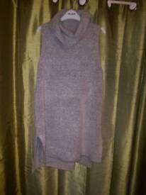 Grey long polo neck jumper £8
