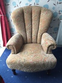 Single Victorian living room chair