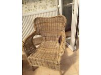 Wicker conservatory chairs