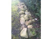 York stone rocks and boulders