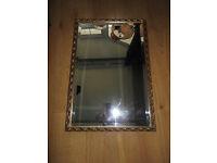 antique ornate gilt framed, antique mirror rectangular