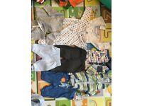 Baby boy clothes bundle, 35 items 0-9 months mix