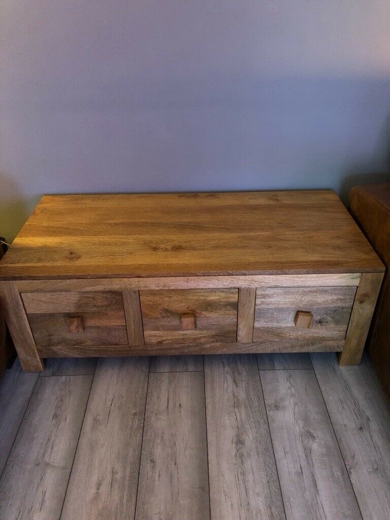 Natural Solid Mango Coffee Table With Six Drawers In Dunmurry Belfast Gumtree