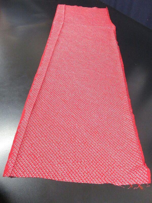 FF#2340Ad40 Vintage Silk Kimono Fabric Shibori 41.3x11.8in(105x30cm)