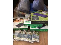Massive camping lot new car box and 10 man tent and more