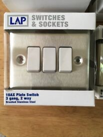 Brand new switches and sockets still in boxes