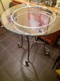 Tall glass table