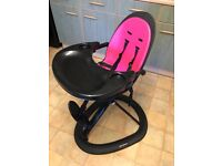 Ickle Bubba Pink & Black High Chair