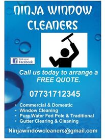 NINJA WINDOW CLEANERS (SOUTHAMPTON). Windows, Gutters, Fascias, Soffit and Conservatory cleaning.