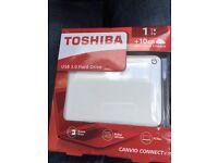 Toshiba 1TB hard drive - brand new unopened