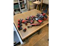Milwaukee M12 set 7 tools 4 batteries