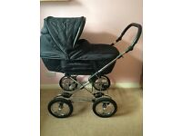 Silver Cross Sleepover Pram with Elegance Chassis