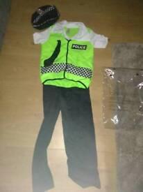 Policeman costume, boys age 5-7