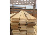 """Timber 4"""" by 1"""" at 2.40 m long. £2 each."""