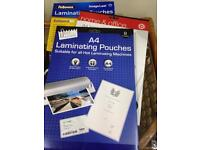 ProAction Laminator and 516 x A4 laminating pouches