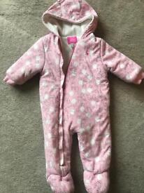 Joules baby girl snowsuit 6-9 months
